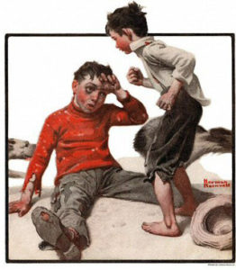 Norman Rockwell, Bully before, Bully after