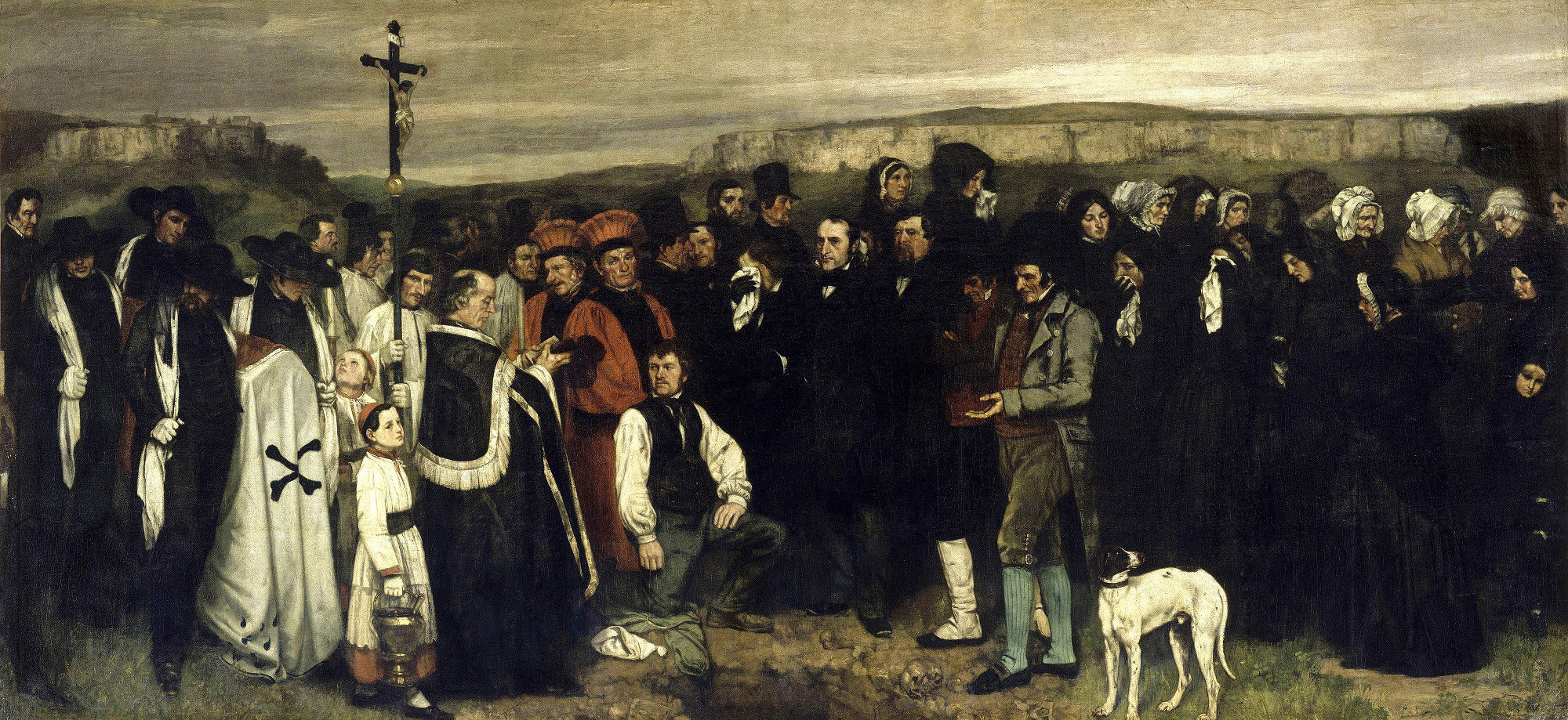 Gustave Courbet, Funerale a Ornans