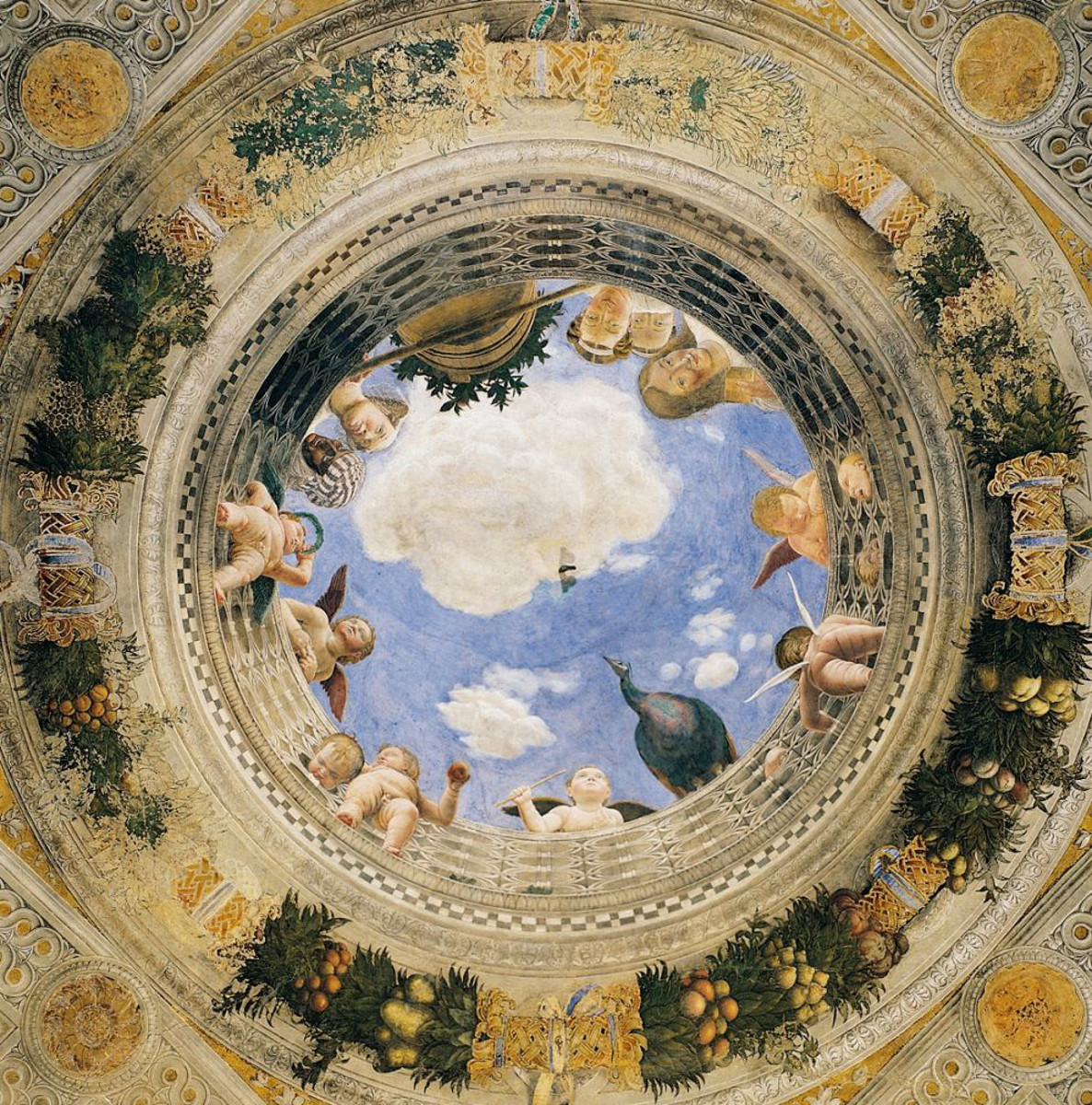 Oculo con putti di andrea mantegna ado analisi dell 39 opera for Mantova la camera degli sposi