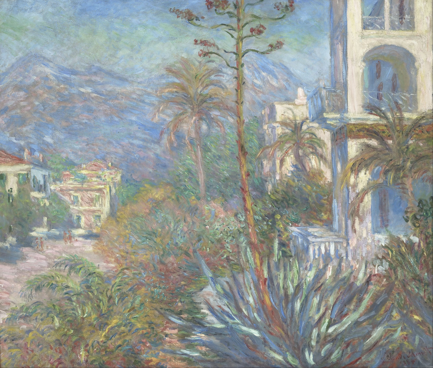 Ville a Bordighera di Claude Monet
