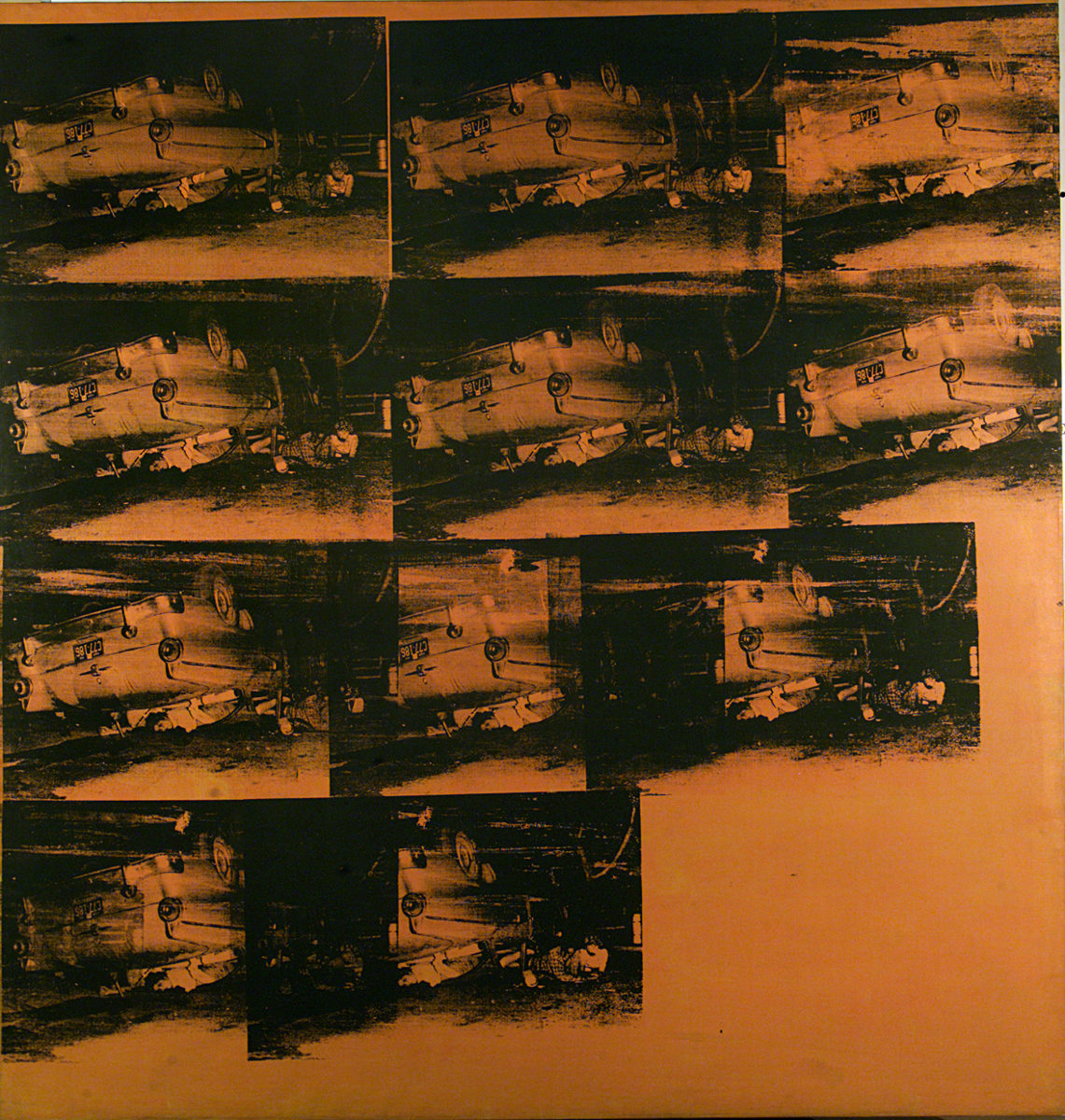 Orange Car Crash, Orange Disaster di Andy Warhol