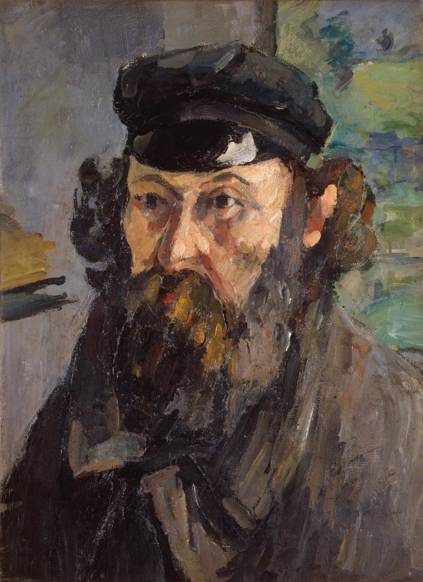 Autoritratto con berretto di Paul Cézanne