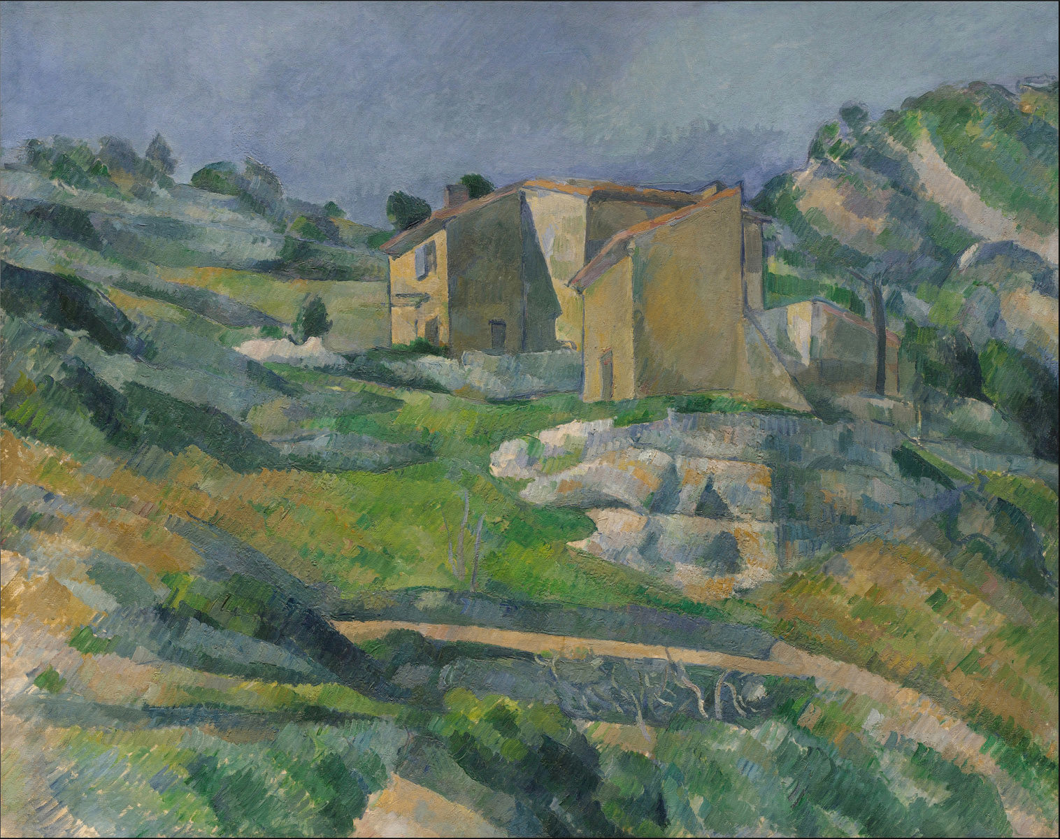 Case à L'Estaque di Paul Cézanne