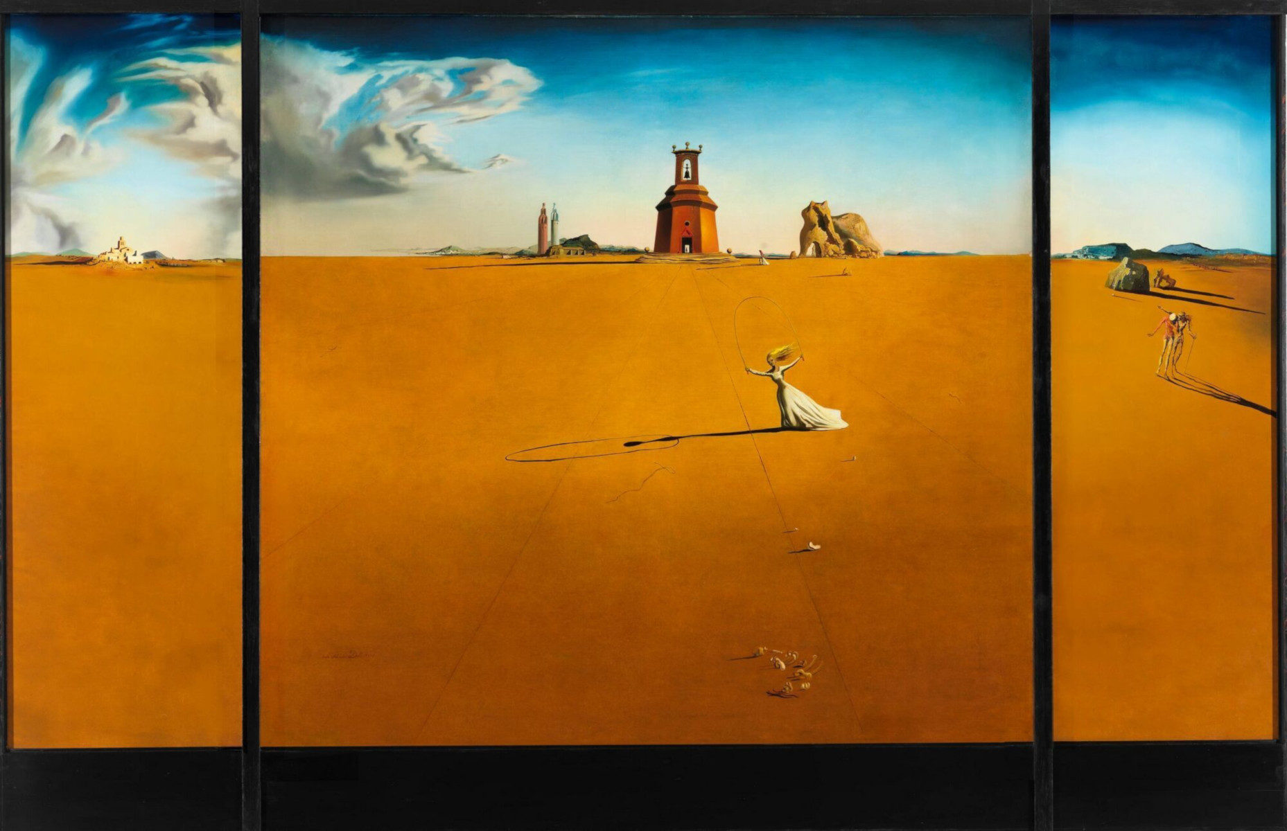 Landscape with a Girl Skipping Rope di Salvador Dalí