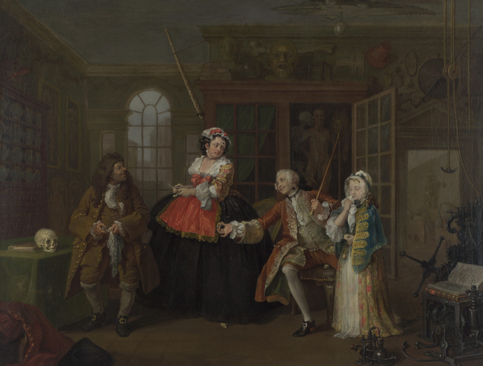 La visita dal ciarlatano di William Hogarth