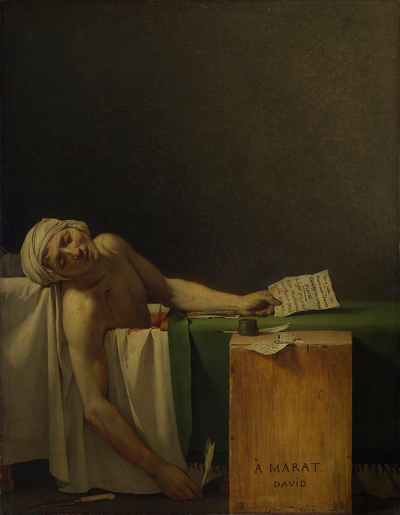 La morte di Marat di Jacques-Louis David