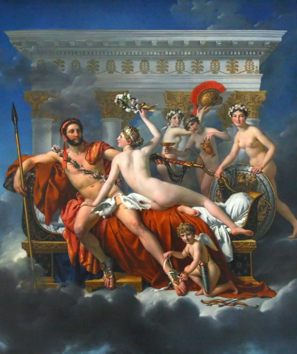 Marte disarmato da Venere di Jacques-Louis David