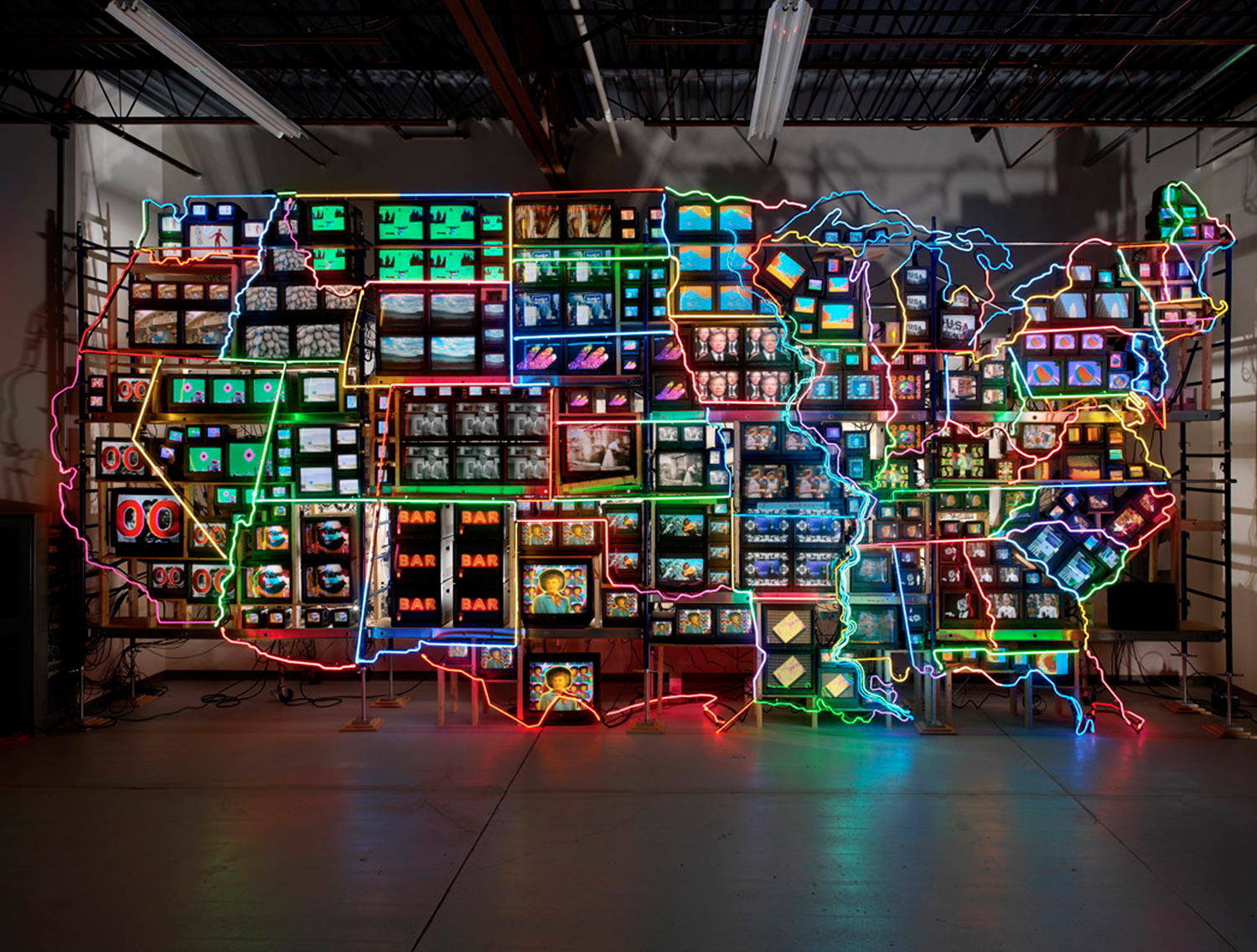 Electronic Superhighway di Nam June Paik