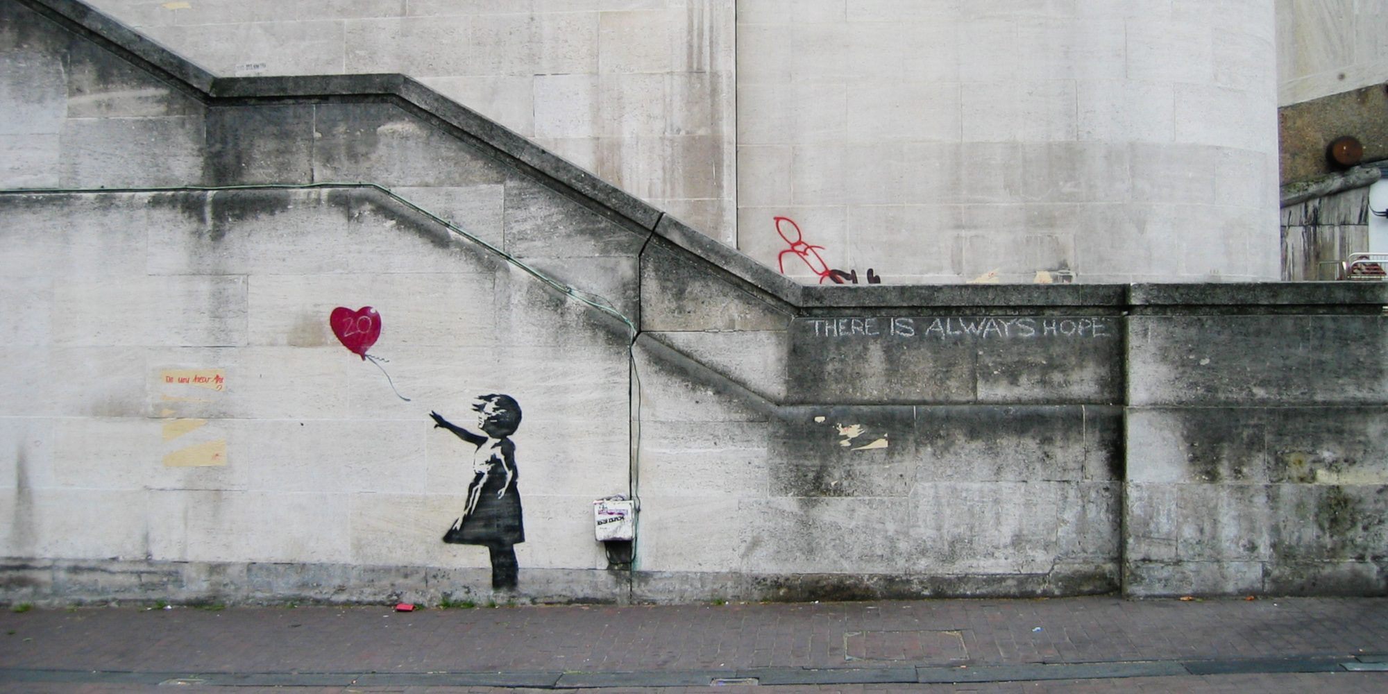 Girl With Balloon di Banksy