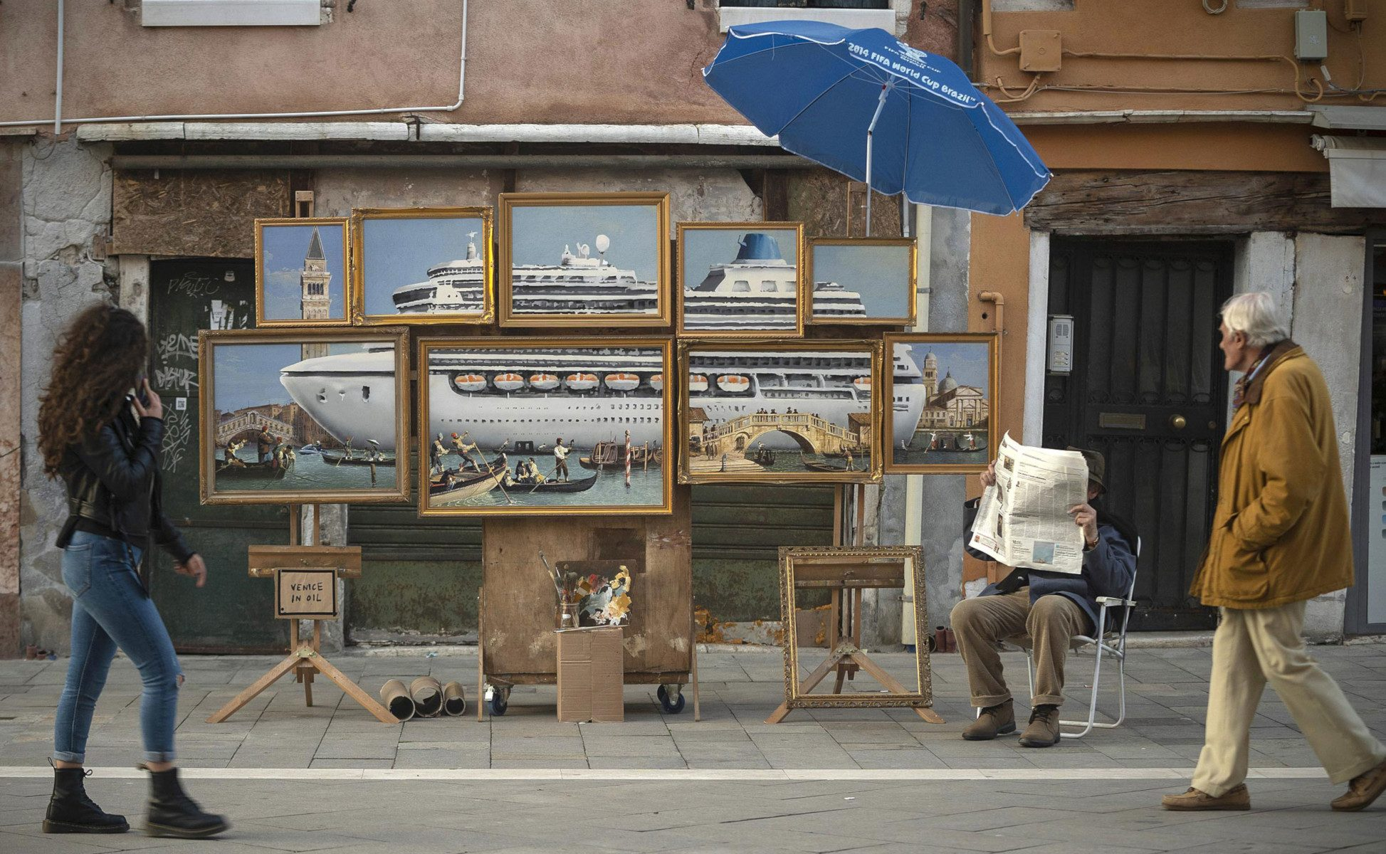 Venice in Oil di Banksy