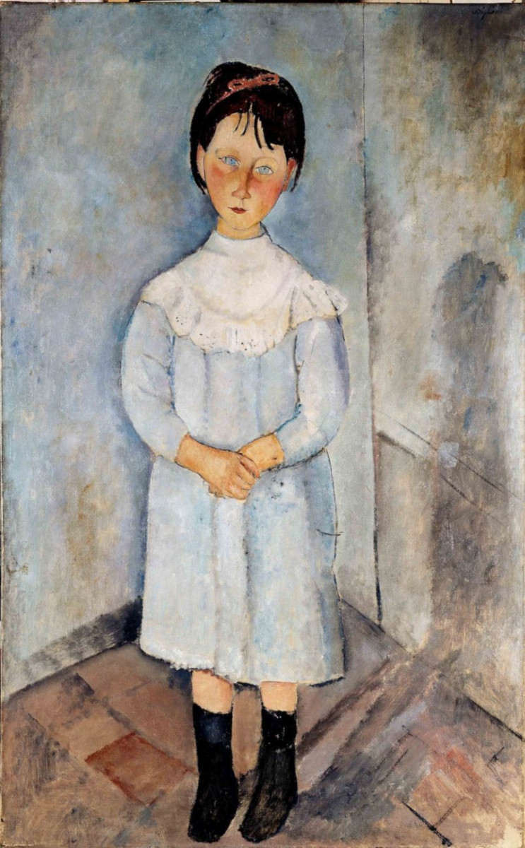 Fillette en bleu di Amedeo Modigliani